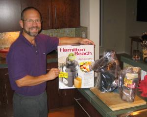 Ray and his juicer